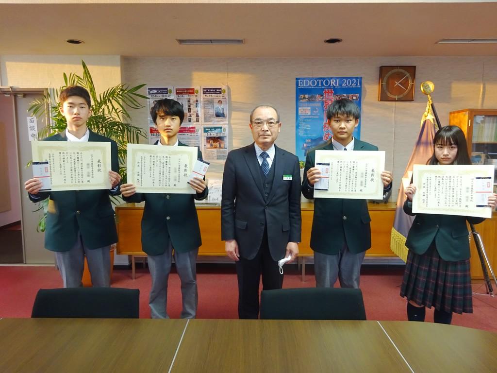 本校生4名が茨城県私保連より善行生徒として表彰されました。